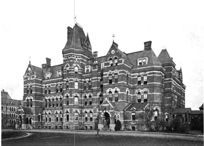The Hudson River administration building circa 1916