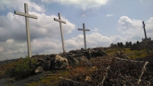 More than one large cross at the top of the mountain wasn't enough, apparently.