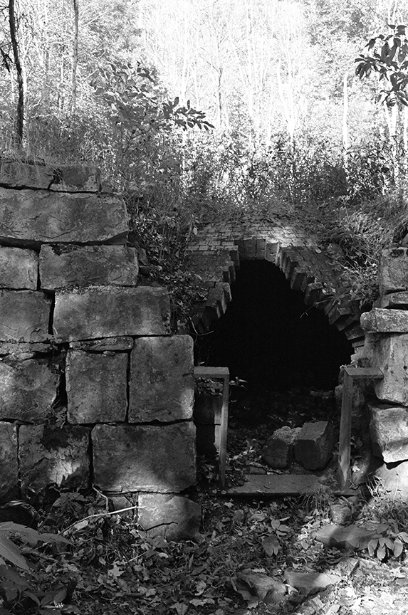 One of the many coke ovens where the coal was baked. These were all retired by Ford in 1919 as a part of his advancements. 40 of the originally 80 ovens still remain today.