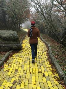 And of course I needed a walking-down-the-yellow-brick-road photo.