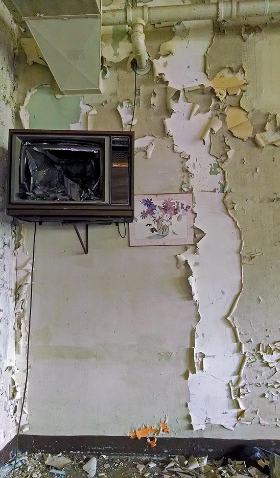 Inside the girls' dormatory