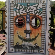 If you travel into the center of town, you'll have the exciting opportunity to have your photo taken in this confusing placcard. (Fun fact: Roscoe is also affectionately known as Trout Town)
