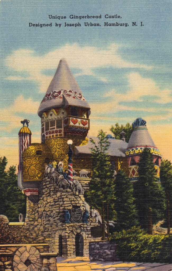 A 1930s postcard of he original castle.