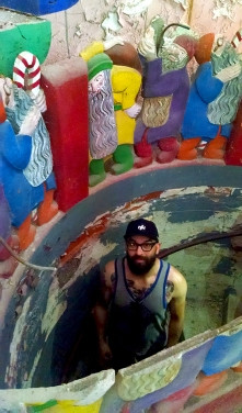 After coming out of the pitch black spiral staircase, Zak is overwhelmed with technicolor splendor.