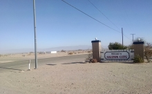 Salton City is the most populated, with 3,700 residents. There's also supposedly a mountain range on on the horizon.