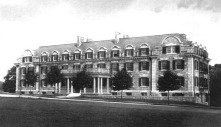Harrison Hall as it once stood.